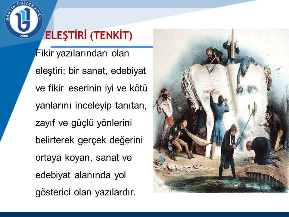 ELEŞTİRİ (TENKİT)