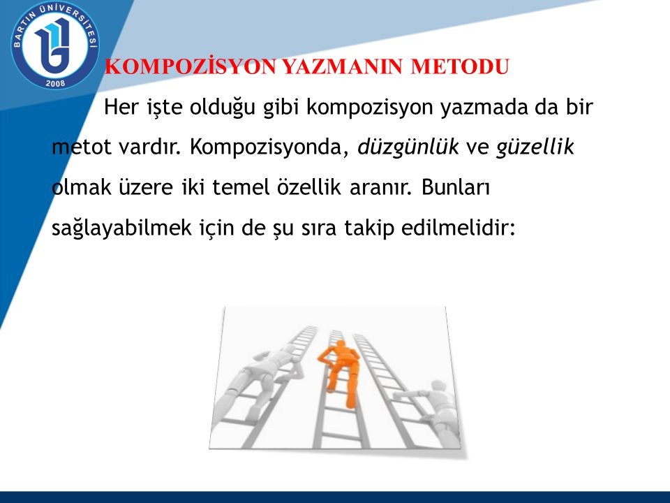 KOMPOZİSYON YAZMANIN METODU