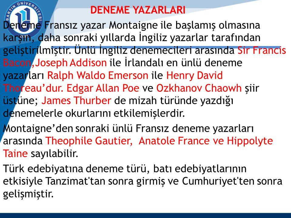 DENEME YAZARLARI