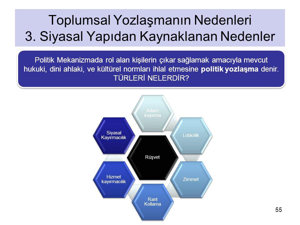 Toplumsal Yozlaşmanın Nedenleri 3. Siyasal Yapıdan Kaynaklanan Nedenler