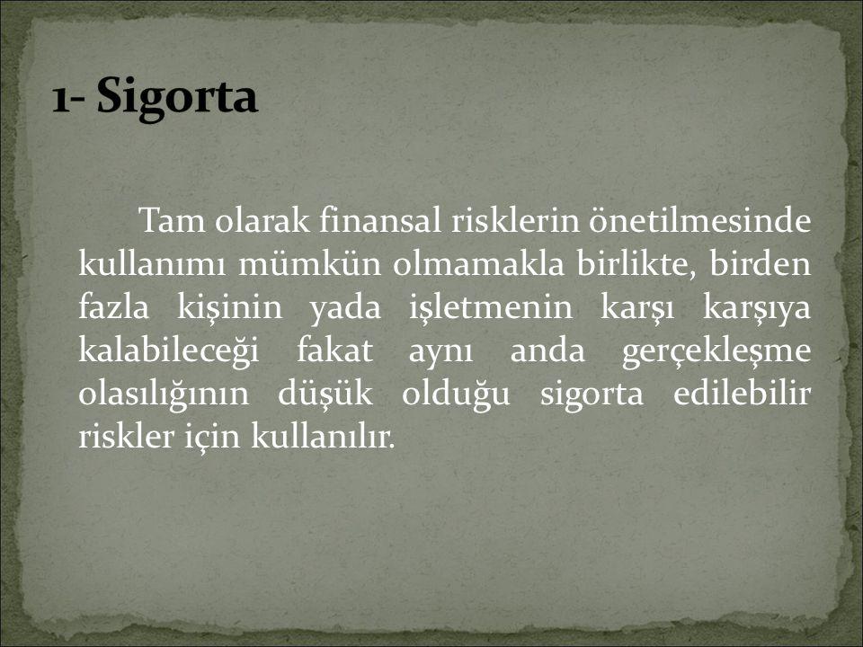 1- Sigorta
