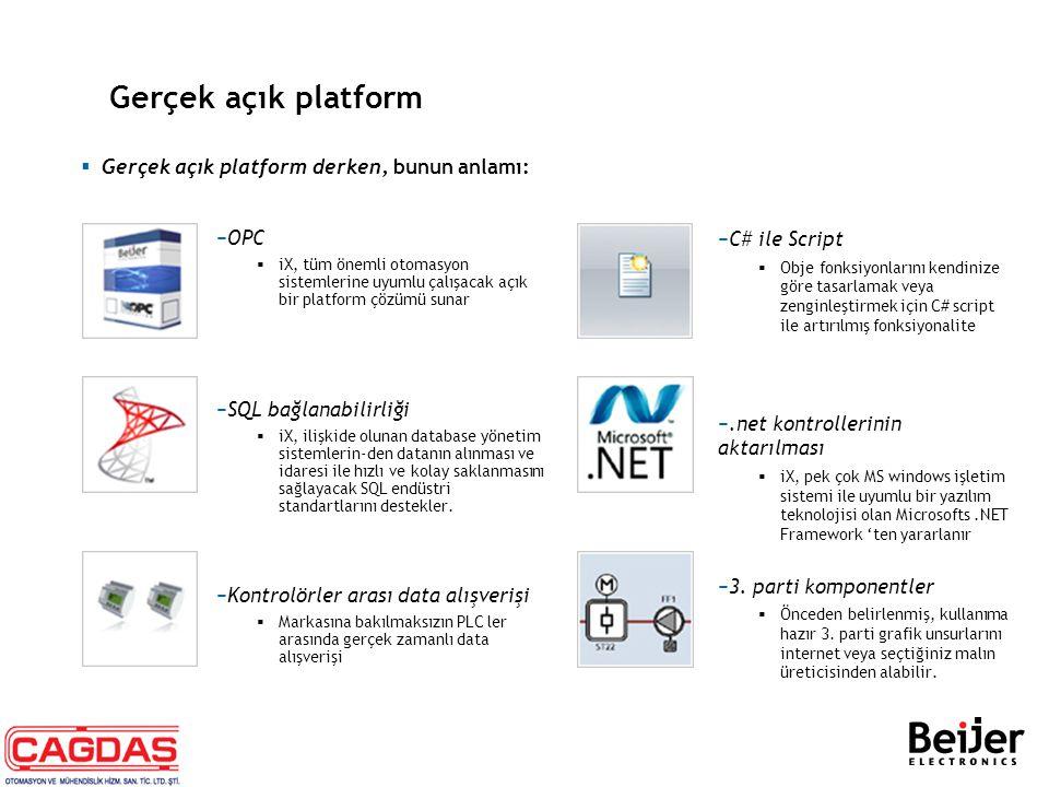 Gerçek açık platform Gerçek açık platform derken, bunun anlamı: OPC