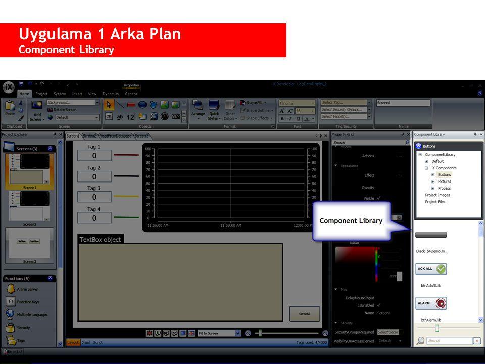 Uygulama 1 Arka Plan Component Library