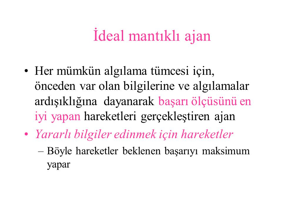 İdeal mantıklı ajan