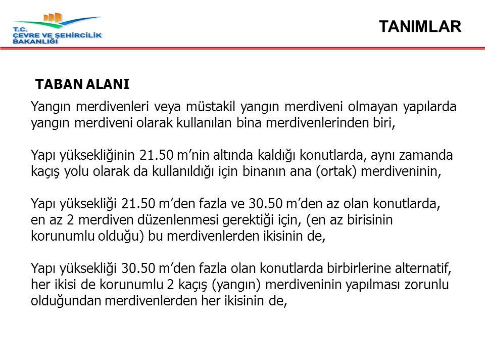 TANIMLAR TABAN ALANI.