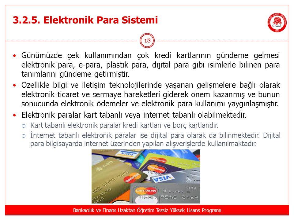 3.2.5. Elektronik Para Sistemi