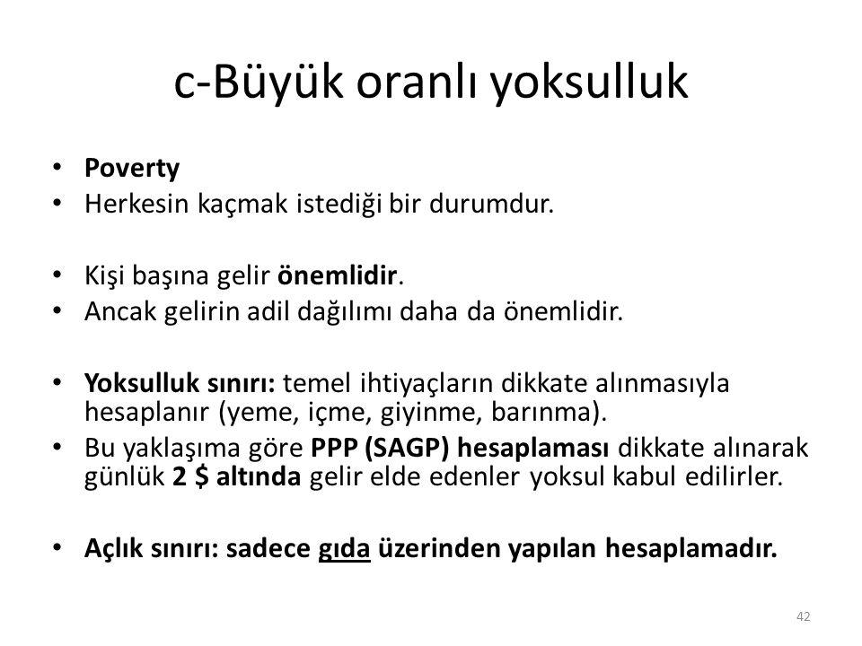 c-Büyük oranlı yoksulluk