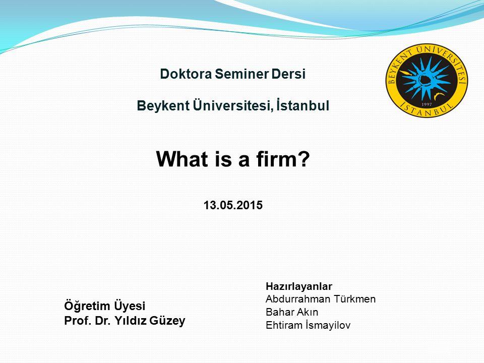 Doktora Seminer Dersi Beykent Üniversitesi, İstanbul