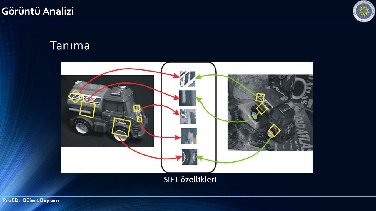 Görüntü Analizi Tanıma SIFT özellikleri Prof.Dr. Bülent Bayram