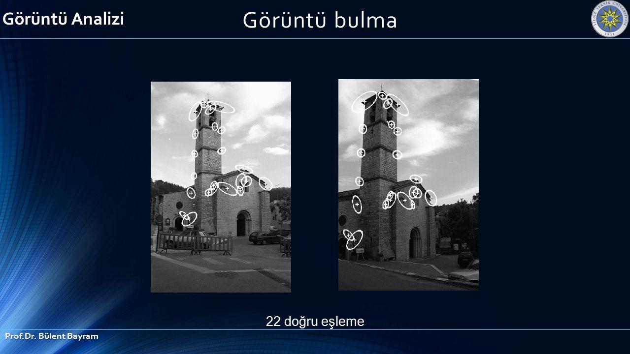 Görüntü Analizi Görüntü bulma 22 doğru eşleme Prof.Dr. Bülent Bayram