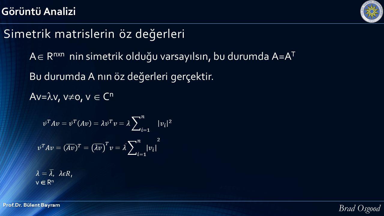 Simetrik matrislerin öz değerleri