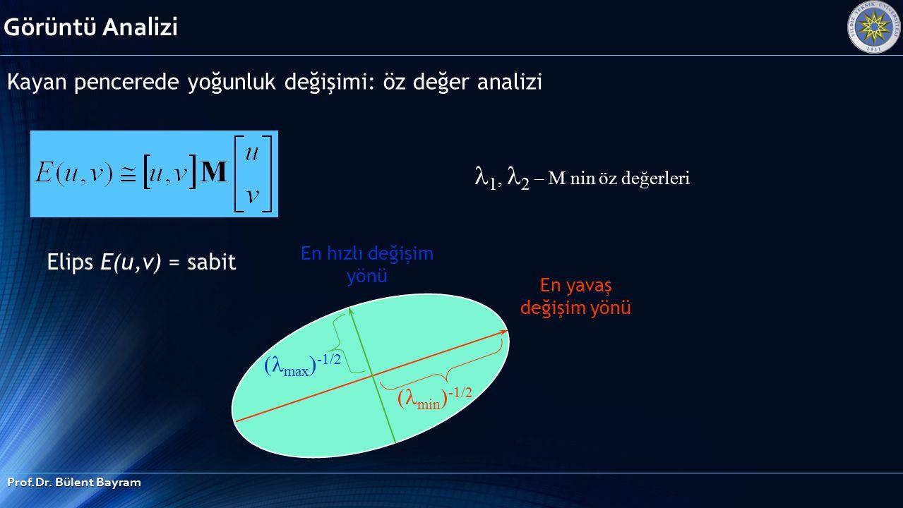 Görüntü Analizi 1, 2 – M nin öz değerleri