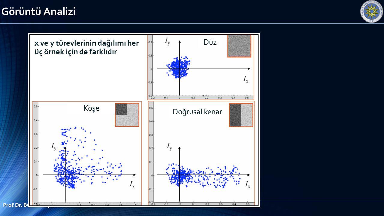 Görüntü Analizi Düz x ve y türevlerinin dağılımı her