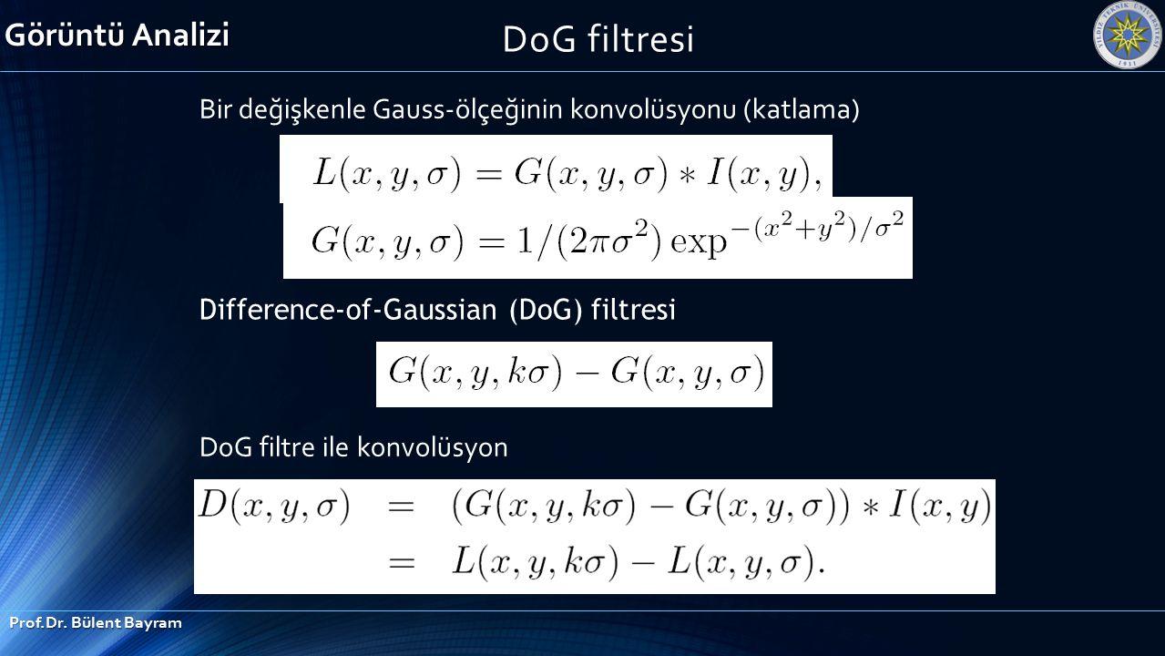 DoG filtresi Görüntü Analizi