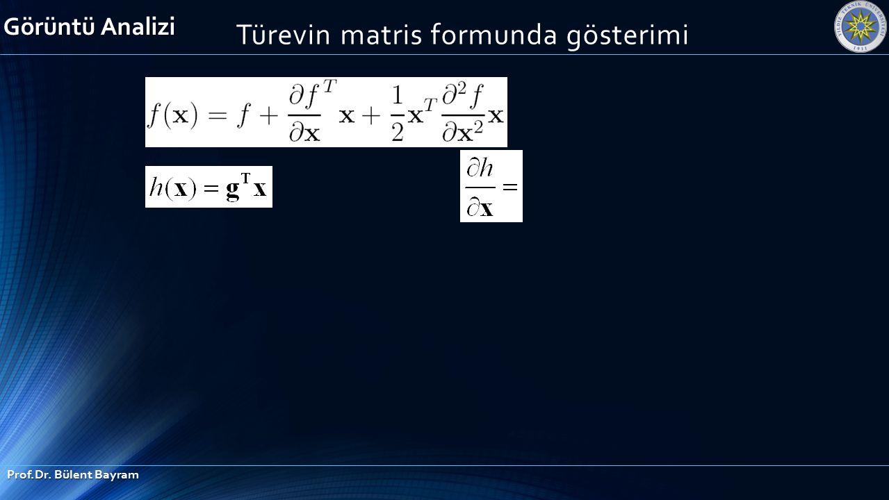 Türevin matris formunda gösterimi