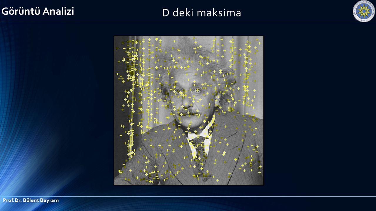 Görüntü Analizi D deki maksima Prof.Dr. Bülent Bayram