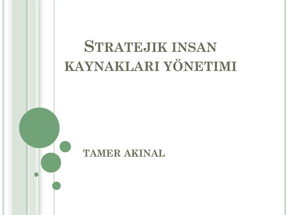 Stratejik insan kaynaklari yönetimi