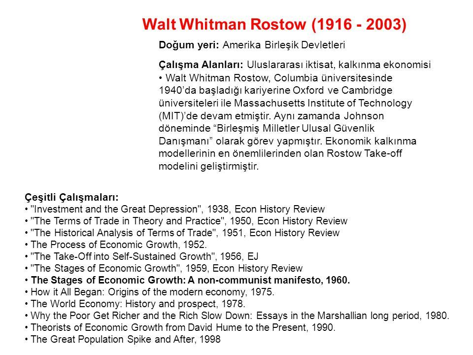 Walt Whitman Rostow (1916 - 2003)