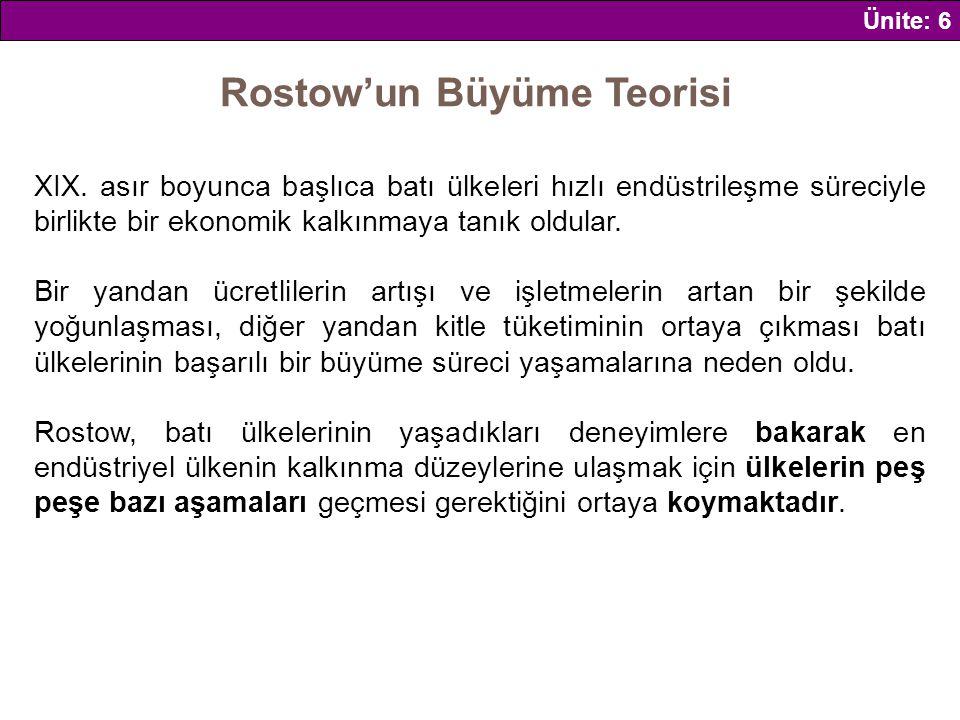 Rostow'un Büyüme Teorisi