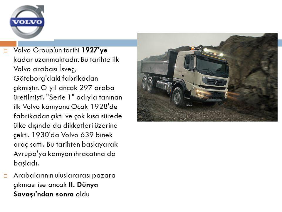 Volvo Group un tarihi 1927 ye kadar uzanmaktadır