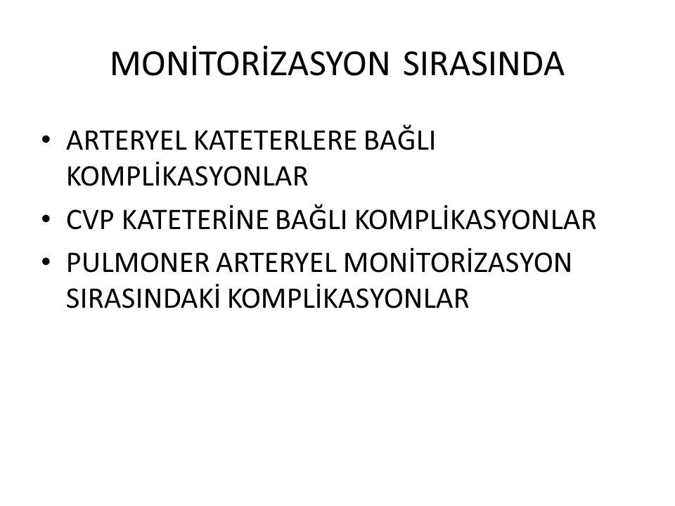 MONİTORİZASYON SIRASINDA