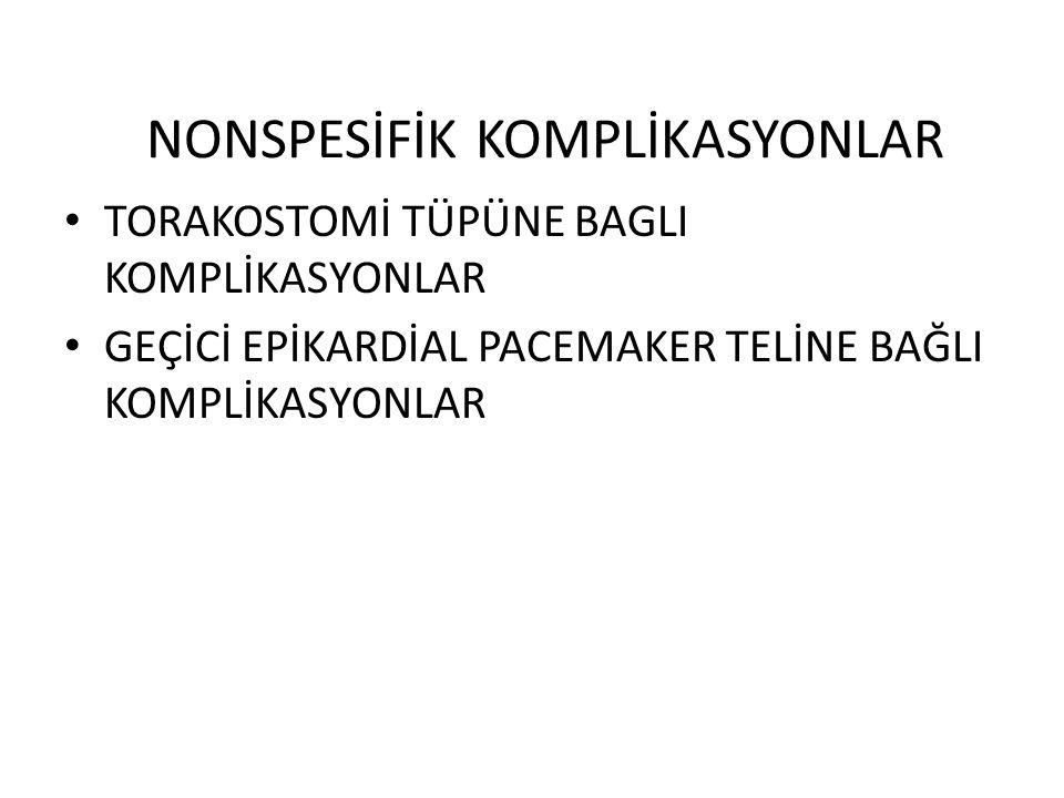 NONSPESİFİK KOMPLİKASYONLAR