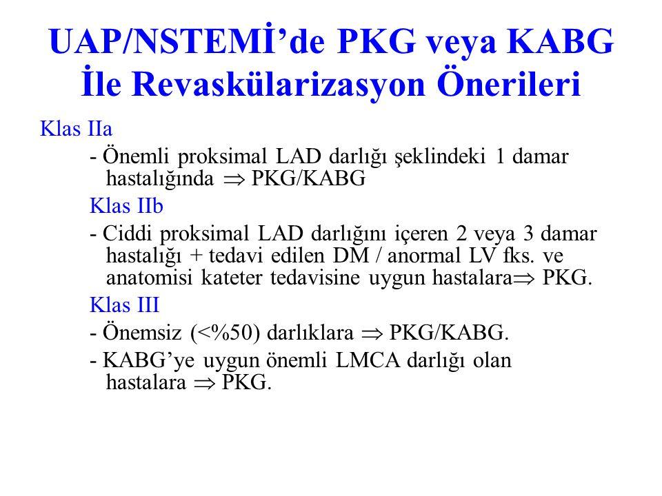 UAP/NSTEMİ'de PKG veya KABG İle Revaskülarizasyon Önerileri