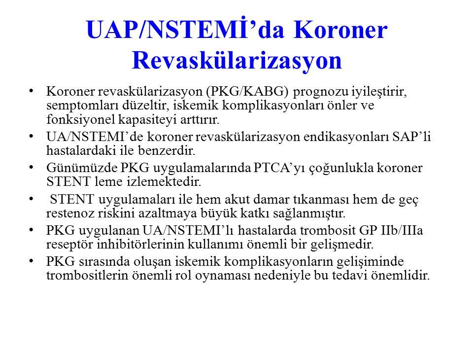 UAP/NSTEMİ'da Koroner Revaskülarizasyon