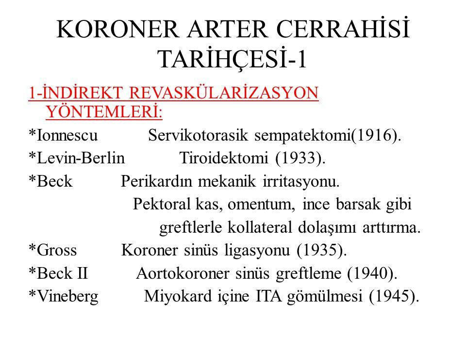 KORONER ARTER CERRAHİSİ TARİHÇESİ-1