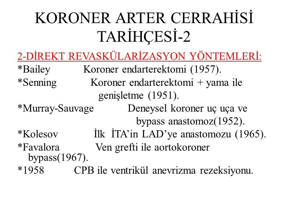 KORONER ARTER CERRAHİSİ TARİHÇESİ-2