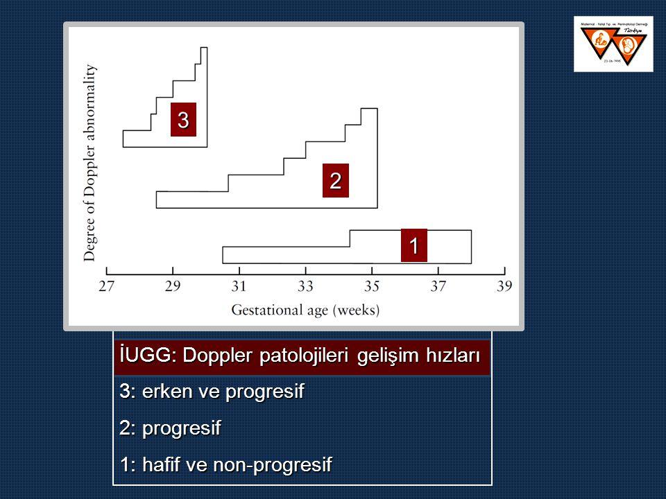 3 2 1 İUGG: Doppler patolojileri gelişim hızları 3: erken ve progresif