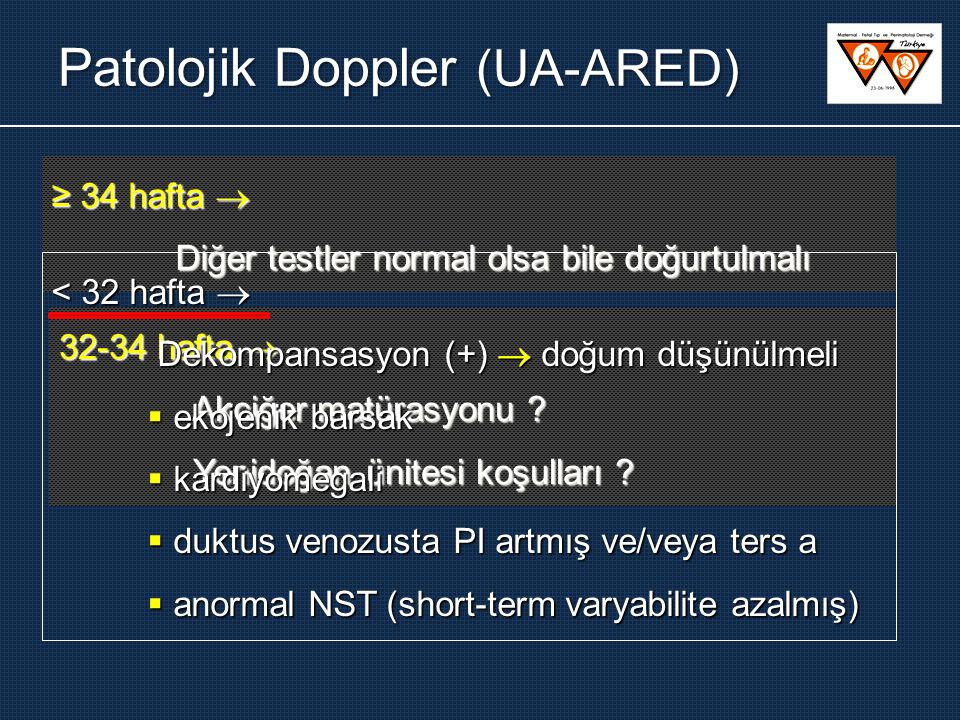 Patolojik Doppler (UA-ARED)