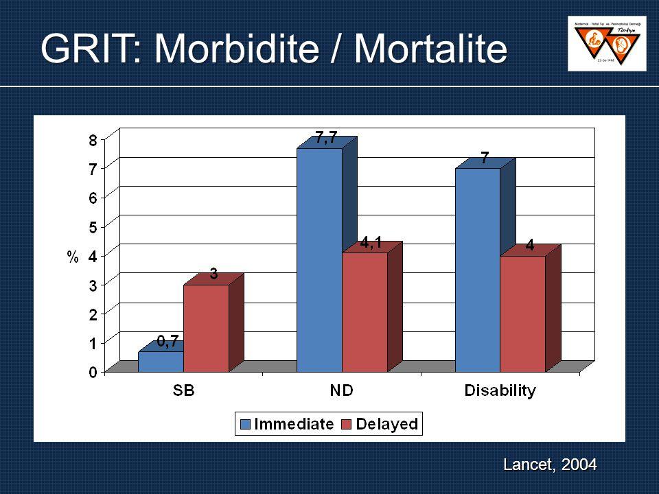 GRIT: Morbidite / Mortalite