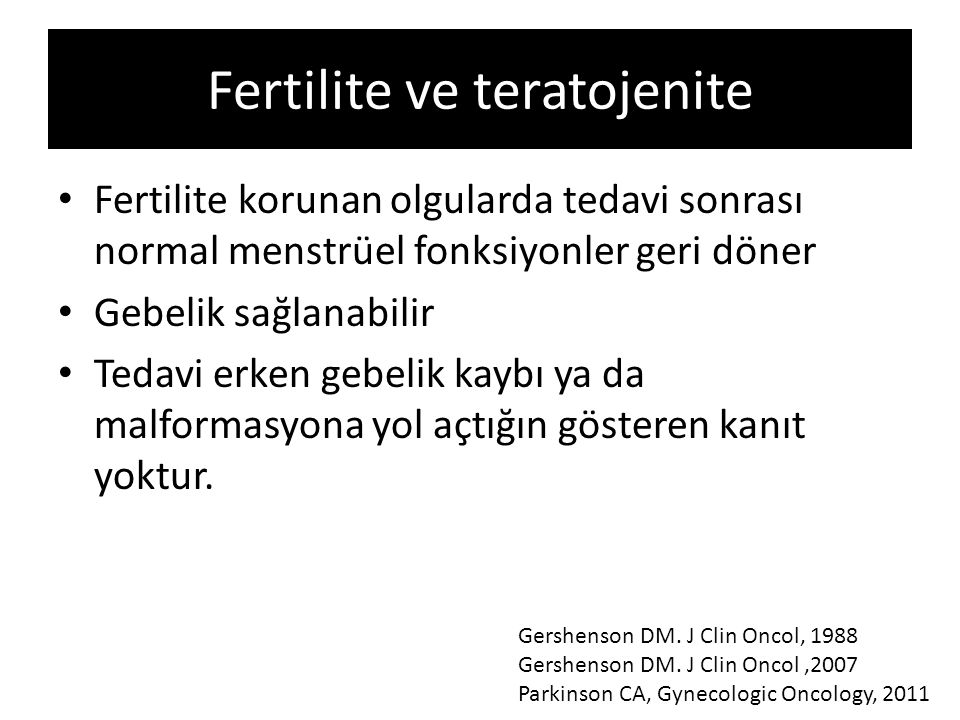 Fertilite ve teratojenite