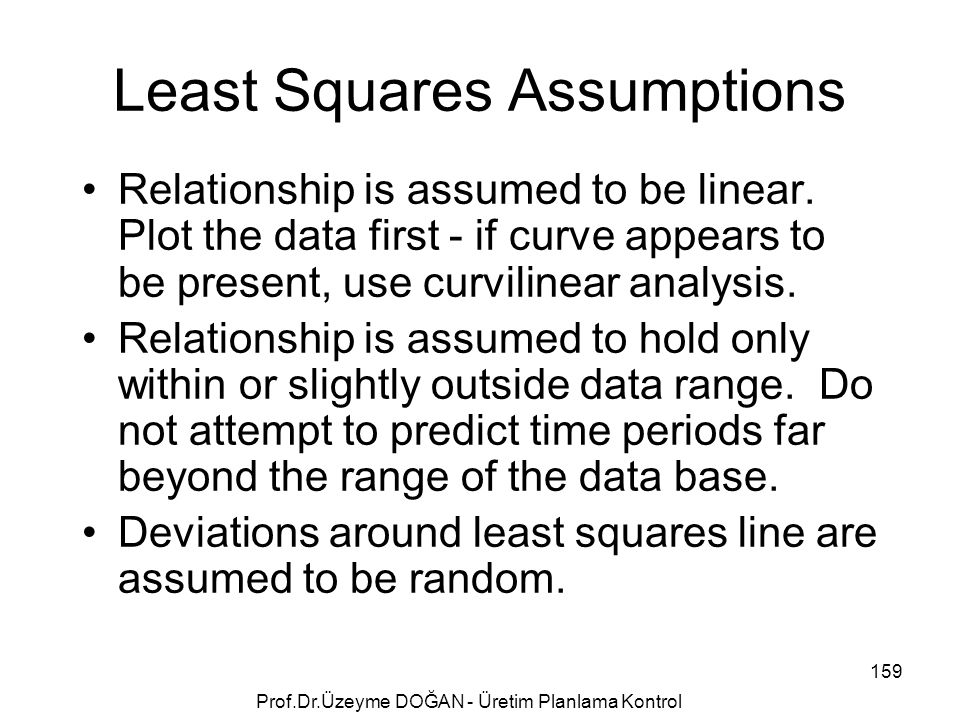 Least Squares Assumptions