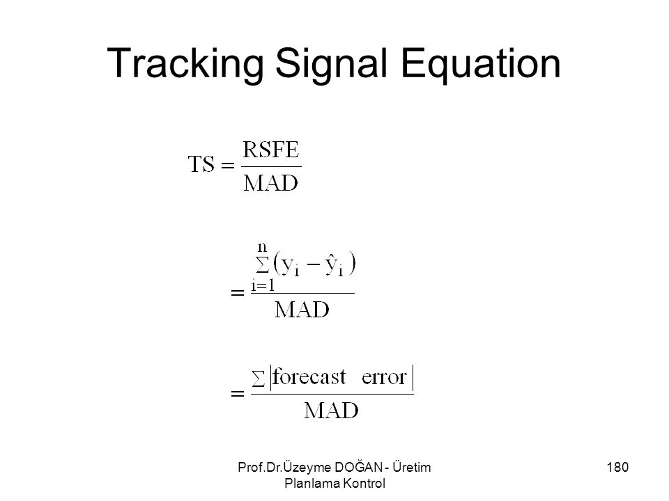 Tracking Signal Equation