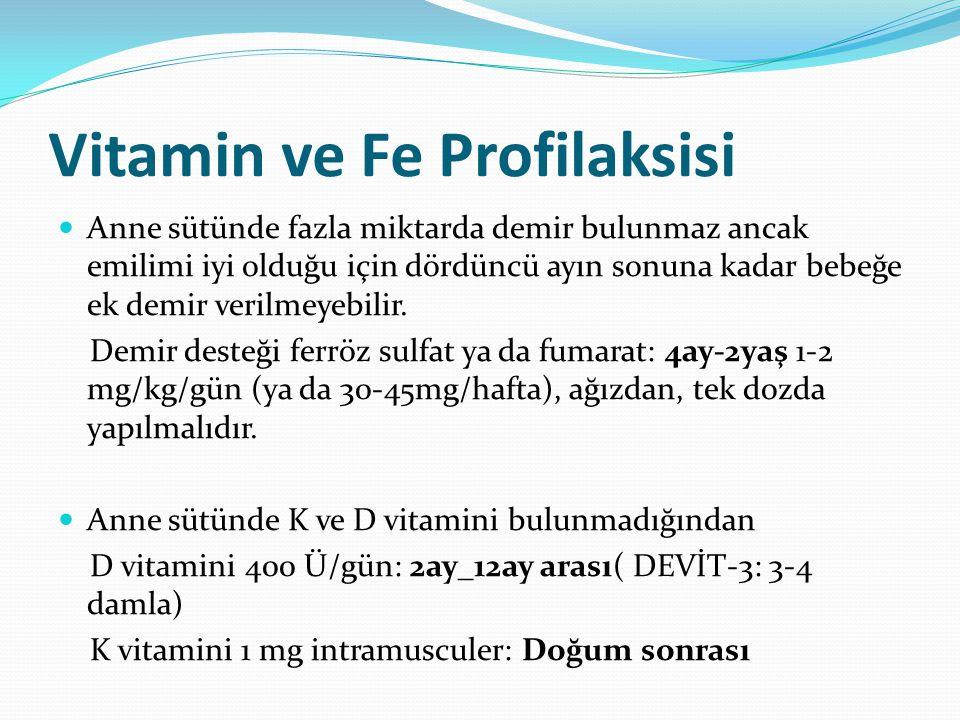 Vitamin ve Fe Profilaksisi