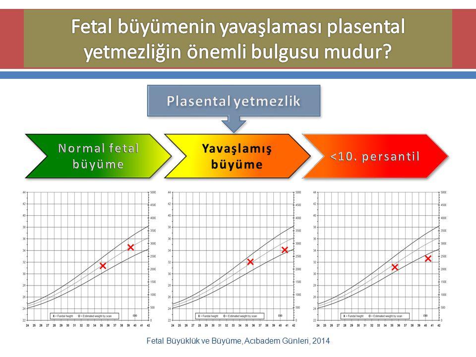 Fetal Büyüklük ve Büyüme, Acıbadem Günleri, 2014