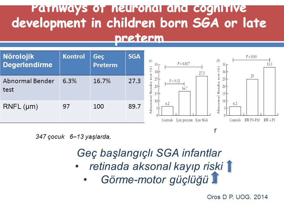 Pathways of neuronal and cognitive development in children born SGA or late preterm