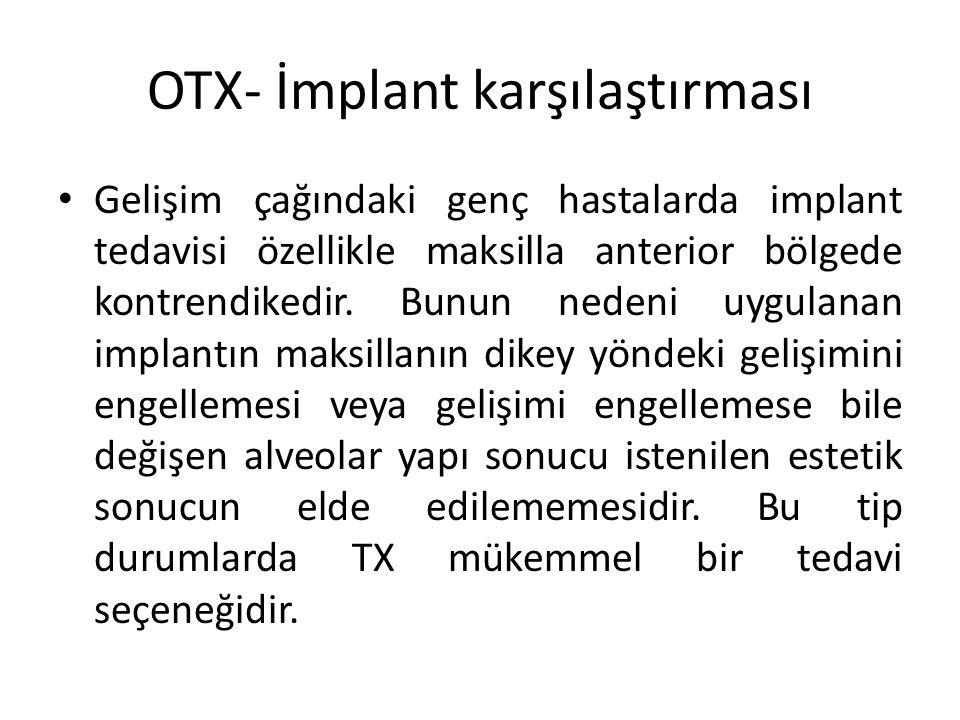 OTX- İmplant karşılaştırması