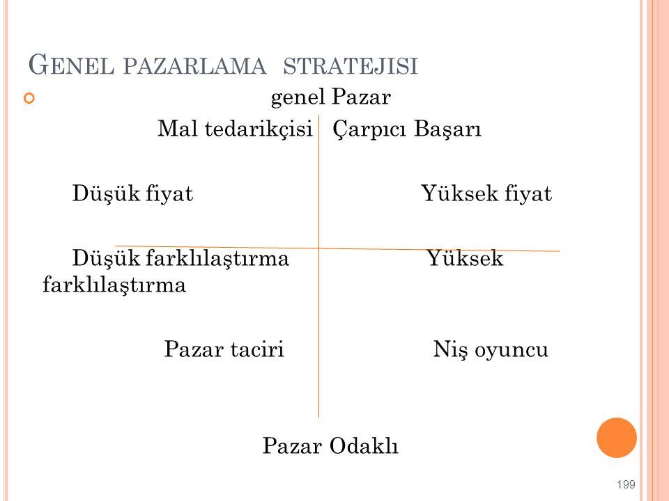 Genel pazarlama stratejisi