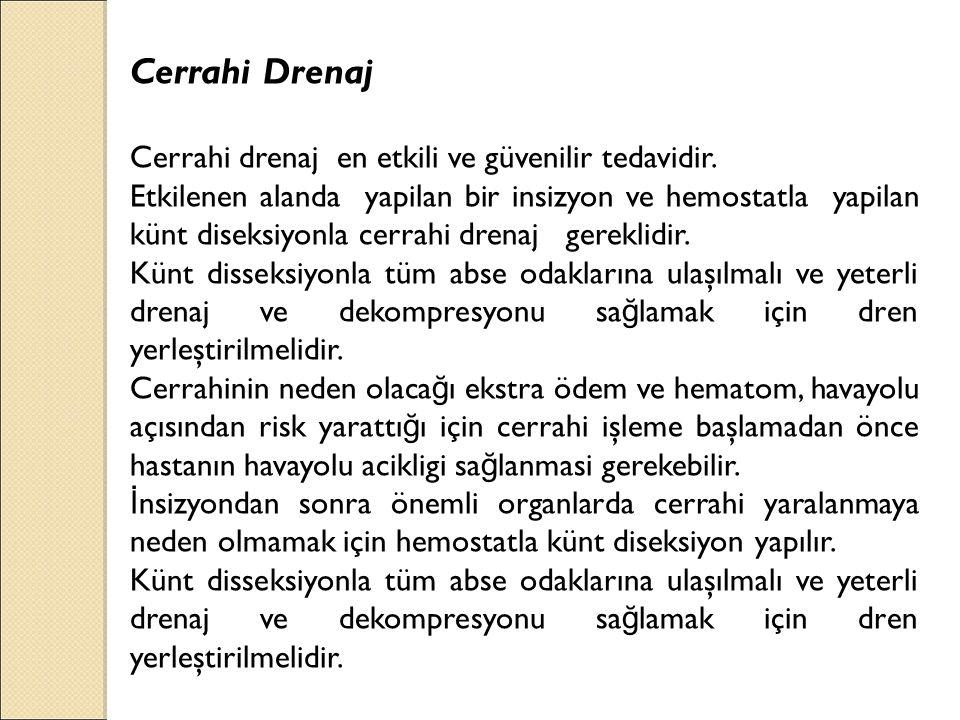 Cerrahi Drenaj Cerrahi drenaj en etkili ve güvenilir tedavidir.