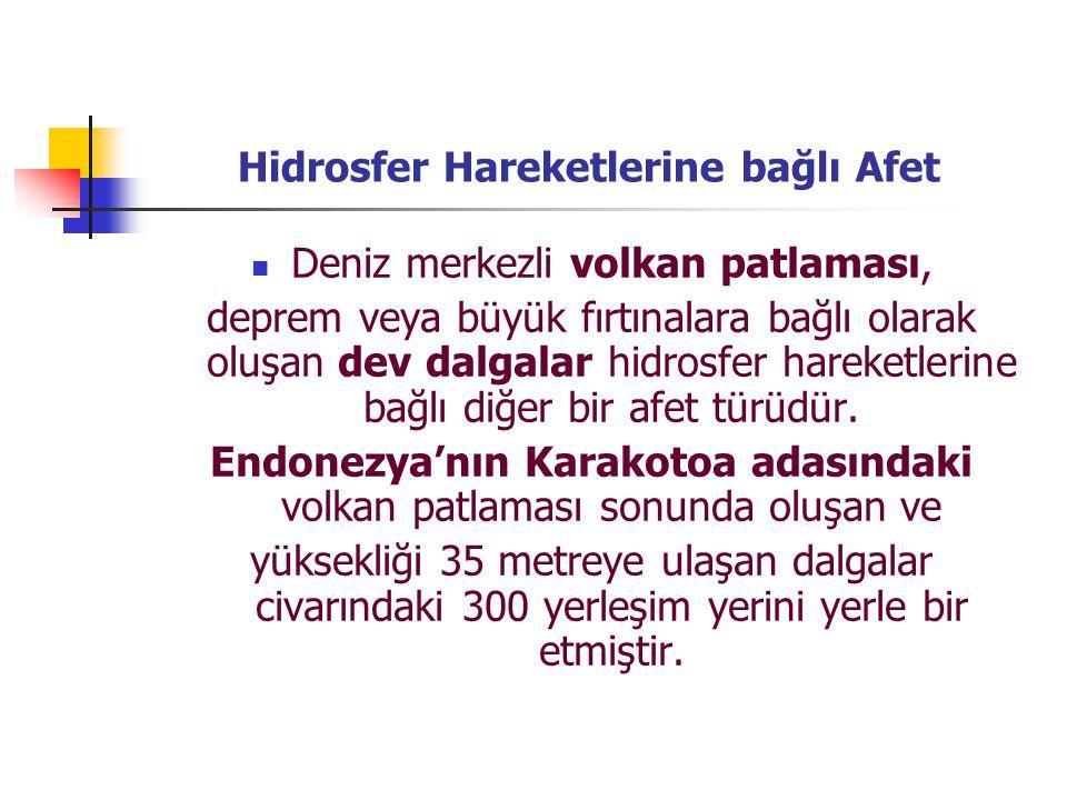 Hidrosfer Hareketlerine bağlı Afet