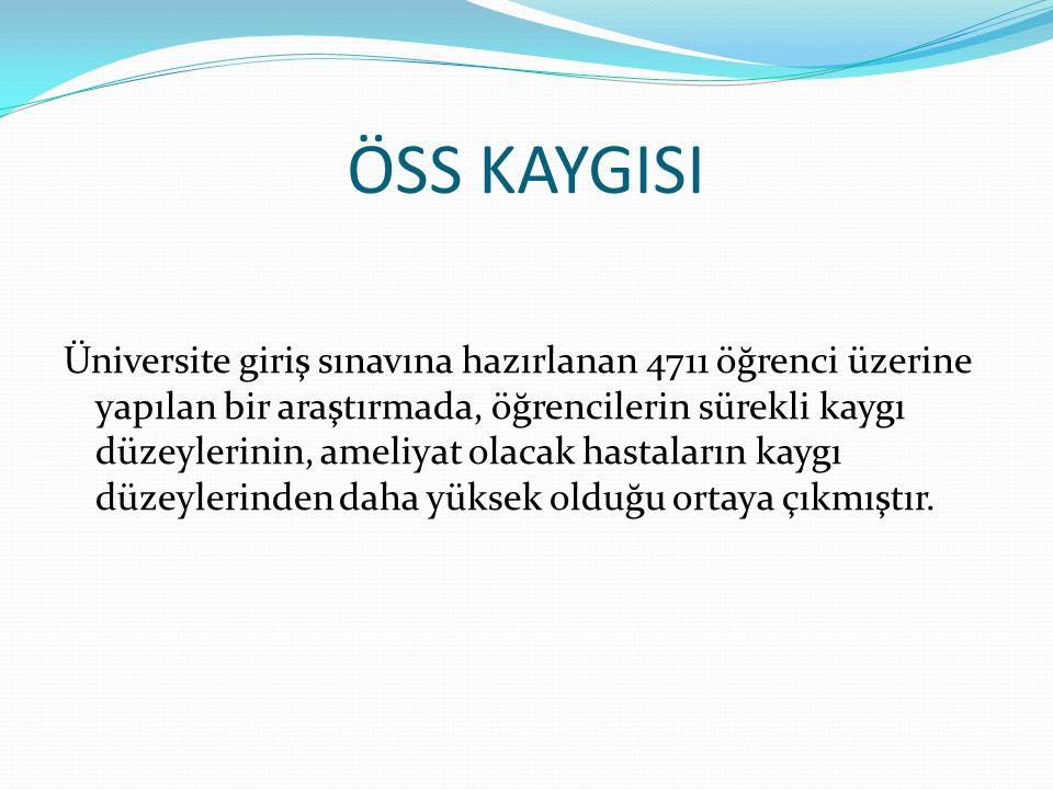 ÖSS KAYGISI