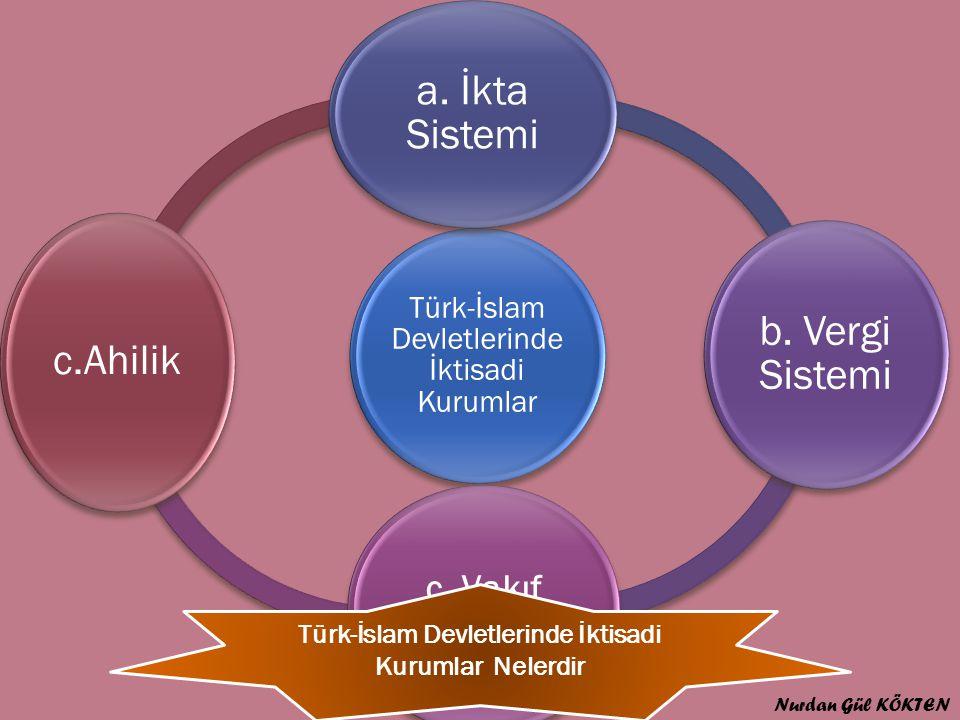Türk-İslam Devletlerinde İktisadi Kurumlar Nelerdir
