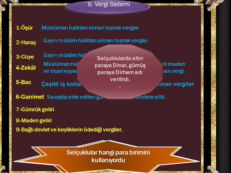 b. Vergi Sistemi b. Vergi Sistemi