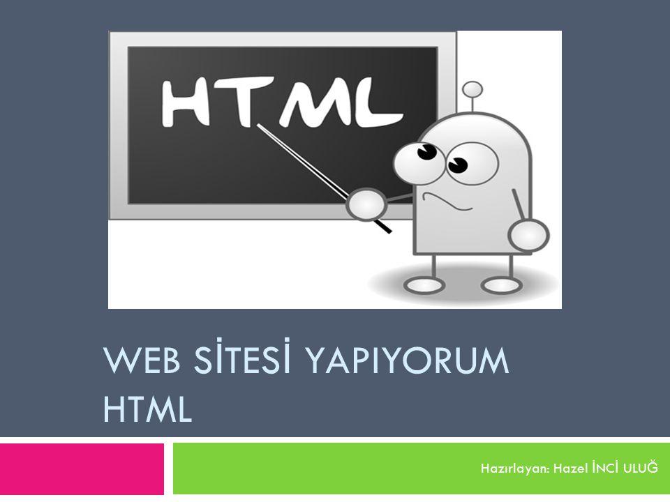 WEB SİTESİ YAPIYORUM HTML
