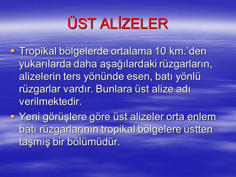 ÜST ALİZELER