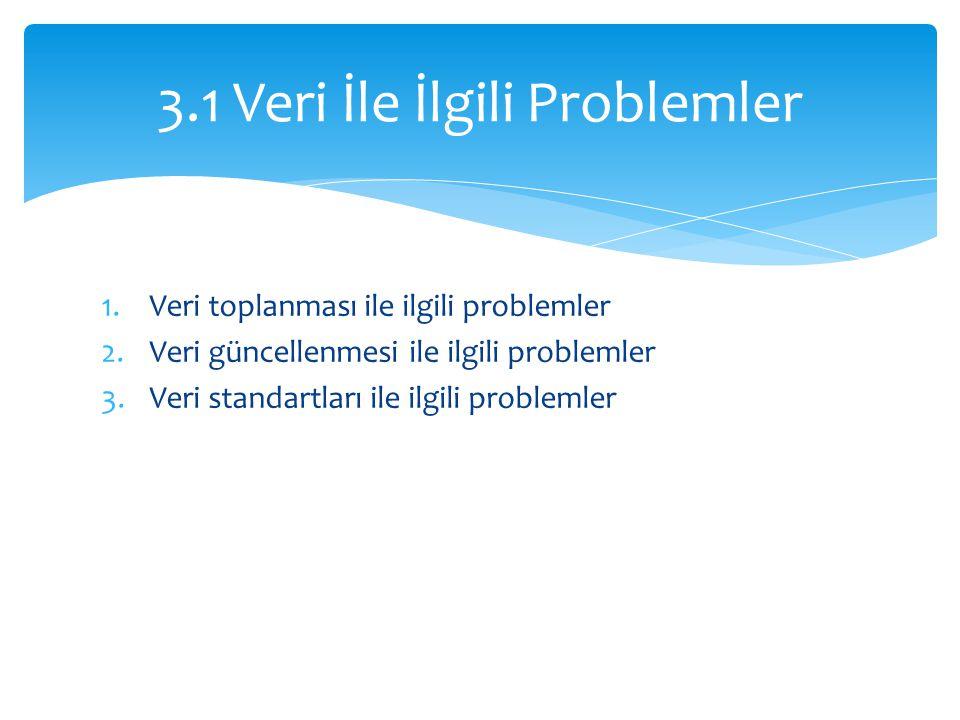 3.1 Veri İle İlgili Problemler
