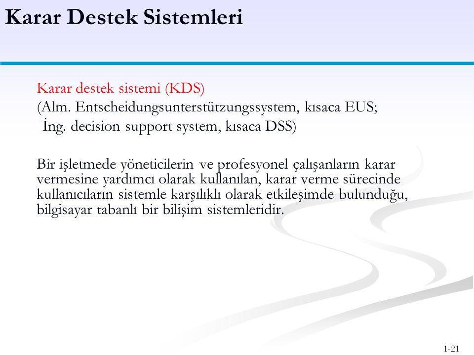 Karar Destek Sistemleri